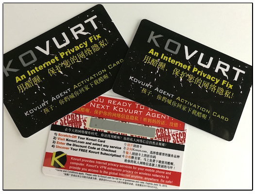 Kovurt VPN scratch card